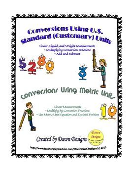 Measurement Conversions Using U.S. Standard (Customary) an