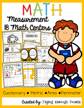 Measurement Math Centers/Games {Metric, Customary, Area &