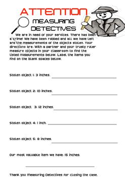 Measurement Detectives