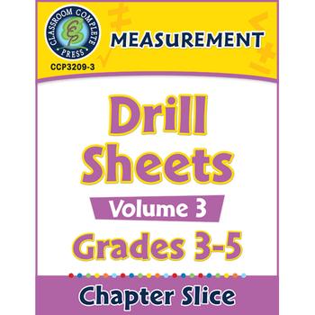 Measurement: Drill Sheets Vol. 3 Gr. 3-5