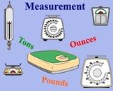 Measurement Estimation Weight (ounces, pounds, tons) Smart