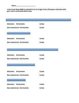 Measurement Estimation Worksheet