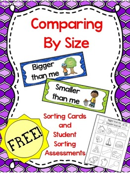 "Measurement - FREE Size Comparing ""Bigger than me, smaller"