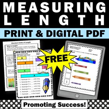 FREE Math Measurement Worksheets Standard Units of Length