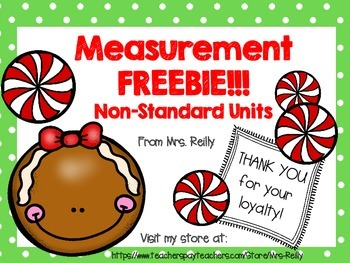 Measurement FREEBIE - Non-Standard Units of Measure