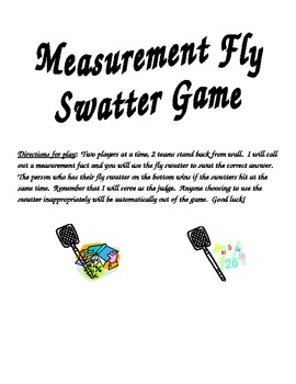 Measurement Flyswat Question Stems