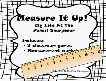 Measurement Game and Worksheet Pack - 2 Common Core Aligne