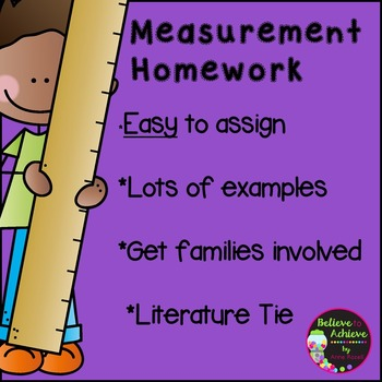Measurement Homework -Easy to use!