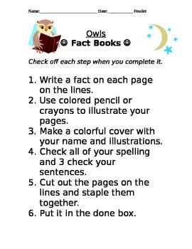 OWL FACT BOOKS!