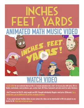 Inches Feet Yards | FREE Math Poster, Worksheet, & Fun Vid