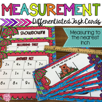 Measurement, Inches, Measuring Inches, Spring. Ruler, Task Cards