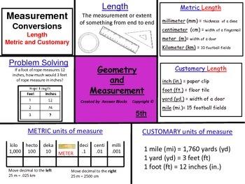 Measurement Length 5th Grade