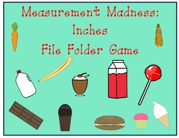 Measurement Madness Inches File Folder Game