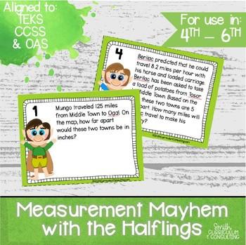 Measurement Mayhem with the Halflings Task Cards- 4th thro