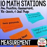 Measurement Test Prep Math Stations