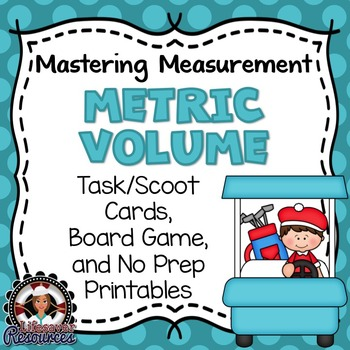 Metric Volume Game and No Prep Printables