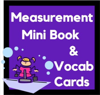 Measurement Student Booklet, Vocabulary Sorting Cards, and