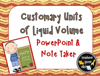 Measurement PowerPoint & Note Taker for Customary Units of