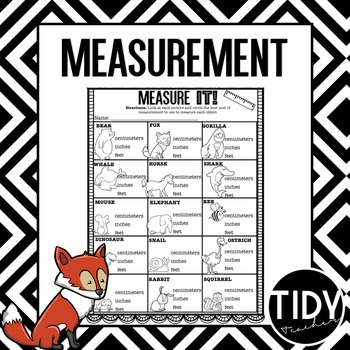 First Grade Measurement Printable Sheets for Practice or A