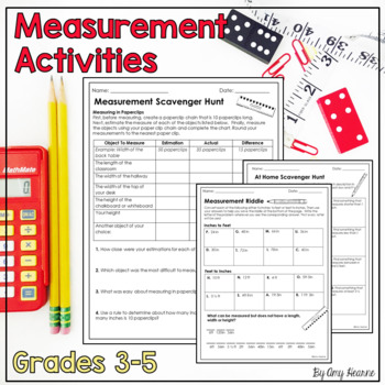 Measurement Classroom Scavenger Hunt