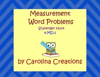 Measurement Scavenger Hunt - Fourth Grade Common Core 4.MD