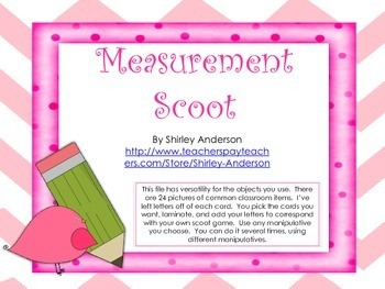 Measurement Scoot Using Non-Standard Units