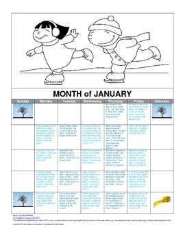 Measurement Story Problem Calendar
