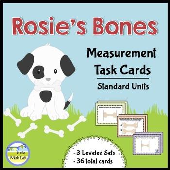 Measurement Task Cards {Leveled}