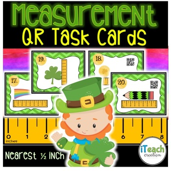 Measurement Task Cards St. Patrick's Day Leprechaun Theme