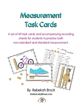 Measurement Task Cards:Teach Early Leaners Non-Standard an