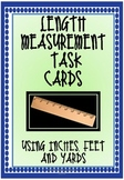 Measurement Task cards inches, feet and yards