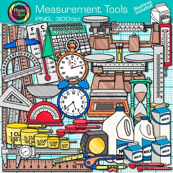 Measurement Tools Clip Art {Great for Volume, Mass, Perime