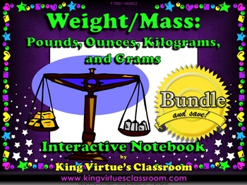 Measurement: Weight and Mass Interactive Notebook BUNDLE -