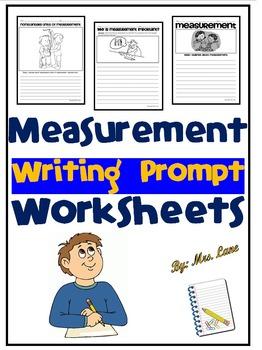 Measurement Writing Prompt Worksheets