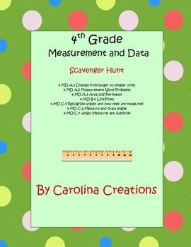 Measurement and Data Fourth Grade Common Core Math Scavenger Hunt