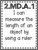 """""""Measurement and Data"""" Guided Math I Can Cards"""