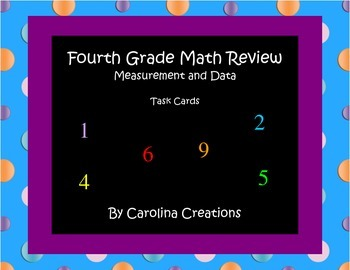 Measurement and Data Task Cards - Fourth Grade Common Core
