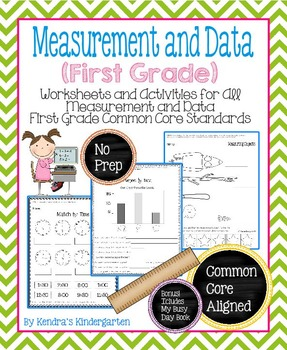 Measurement and Data Worksheets/Activities - First Grade C
