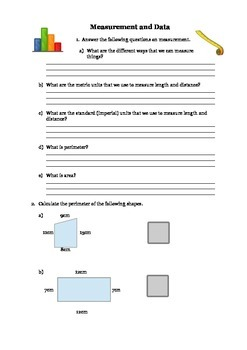 Measurement and Data for 3rd Grade