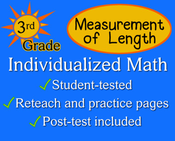 Measurement of Length, 3rd grade - Individualized Math - w