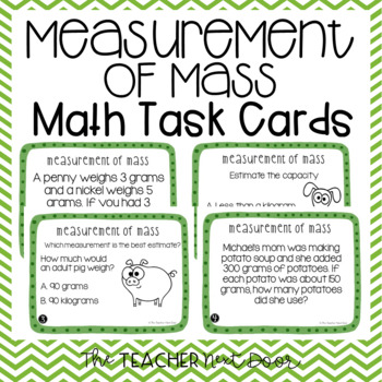 Measurement of Mass Task Cards for 3rd Grade