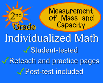 Measurement of Mass and Capacity, 2nd grade - Individualiz