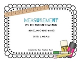 Measurement to the Inch and Half Inch Math Game