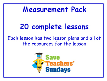 Measurements Lessons Bundle / Pack (20 Lessons for 2nd to