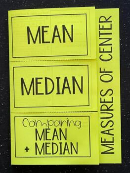 Measures of Center- Mean & Median (Foldable)