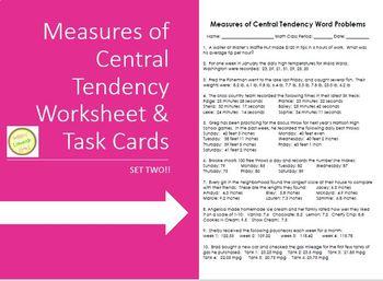 Measures of Ctrl Tendency (Mean Median Mode) Word Probs TA