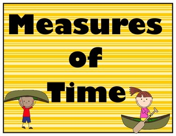 Measures of Time in Camping, Dots, and Chevron Theme