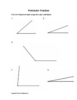 Measuring Angles - Protractor Practice