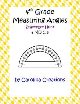 Measuring Angles Scavenger Hunt - Fourth Grade Common Core