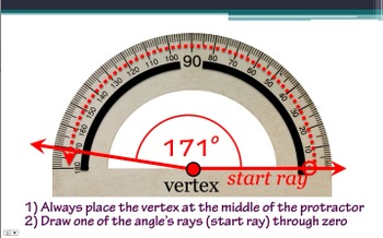 Measuring Angles Using a Protractor